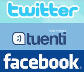 simbolos facebook tuenti twitter